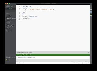 BracketsでRuby実行する拡張機能・インデント時にスペース2つ幅設定